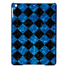 Square2 Black Marble & Deep Blue Water Ipad Air Hardshell Cases by trendistuff