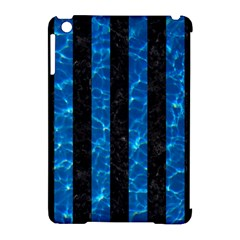 Stripes1 Black Marble & Deep Blue Water Apple Ipad Mini Hardshell Case (compatible With Smart Cover) by trendistuff