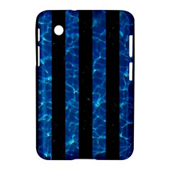 Stripes1 Black Marble & Deep Blue Water Samsung Galaxy Tab 2 (7 ) P3100 Hardshell Case  by trendistuff