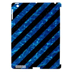 Stripes3 Black Marble & Deep Blue Water Apple Ipad 3/4 Hardshell Case (compatible With Smart Cover) by trendistuff