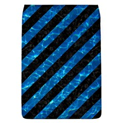 Stripes3 Black Marble & Deep Blue Water Flap Covers (l)  by trendistuff