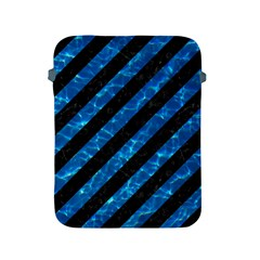 Stripes3 Black Marble & Deep Blue Water Apple Ipad 2/3/4 Protective Soft Cases by trendistuff