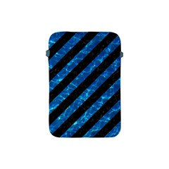 Stripes3 Black Marble & Deep Blue Water Apple Ipad Mini Protective Soft Cases by trendistuff