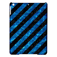 Stripes3 Black Marble & Deep Blue Water Ipad Air Hardshell Cases by trendistuff