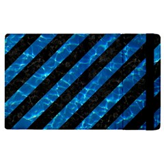 Stripes3 Black Marble & Deep Blue Water Apple Ipad Pro 12 9   Flip Case by trendistuff