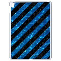 Stripes3 Black Marble & Deep Blue Water Apple Ipad Pro 9 7   White Seamless Case by trendistuff