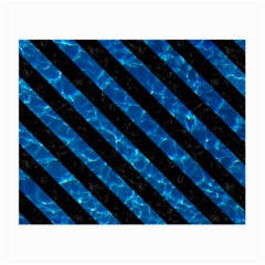 Stripes3 Black Marble & Deep Blue Water (r) Small Glasses Cloth by trendistuff