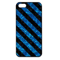 Stripes3 Black Marble & Deep Blue Water (r) Apple Iphone 5 Seamless Case (black) by trendistuff