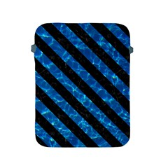 Stripes3 Black Marble & Deep Blue Water (r) Apple Ipad 2/3/4 Protective Soft Cases by trendistuff