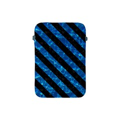 Stripes3 Black Marble & Deep Blue Water (r) Apple Ipad Mini Protective Soft Cases by trendistuff