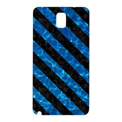 Stripes3 Black Marble & Deep Blue Water (r) Samsung Galaxy Note 3 N9005 Hardshell Back Case by trendistuff