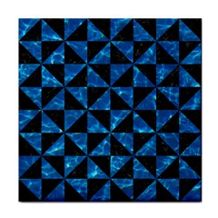 Triangle1 Black Marble & Deep Blue Water Tile Coasters