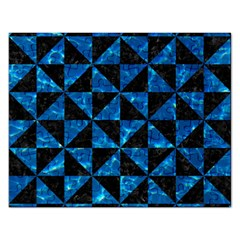 Triangle1 Black Marble & Deep Blue Water Rectangular Jigsaw Puzzl by trendistuff