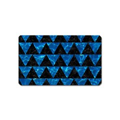 Triangle2 Black Marble & Deep Blue Water Magnet (name Card)