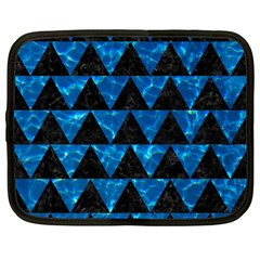 Triangle2 Black Marble & Deep Blue Water Netbook Case (xl)  by trendistuff