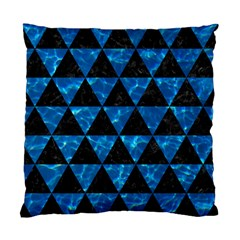 Triangle3 Black Marble & Deep Blue Water Standard Cushion Case (two Sides) by trendistuff