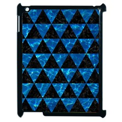 Triangle3 Black Marble & Deep Blue Water Apple Ipad 2 Case (black) by trendistuff