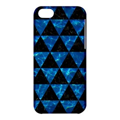 Triangle3 Black Marble & Deep Blue Water Apple Iphone 5c Hardshell Case by trendistuff
