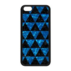 Triangle3 Black Marble & Deep Blue Water Apple Iphone 5c Seamless Case (black) by trendistuff