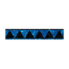 Triangle3 Black Marble & Deep Blue Water Flano Scarf (mini) by trendistuff
