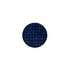 Woven1 Black Marble & Deep Blue Water 1  Mini Magnets by trendistuff