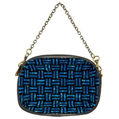 Woven1 Black Marble & Deep Blue Water Chain Purses (two Sides)  by trendistuff