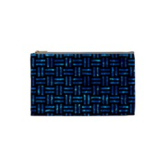 Woven1 Black Marble & Deep Blue Water Cosmetic Bag (small)  by trendistuff