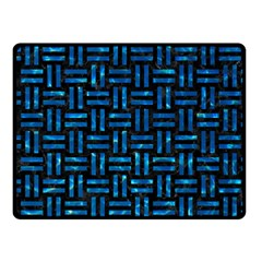 Woven1 Black Marble & Deep Blue Water Fleece Blanket (small) by trendistuff