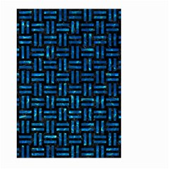 Woven1 Black Marble & Deep Blue Water Large Garden Flag (two Sides) by trendistuff