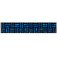 Woven1 Black Marble & Deep Blue Water Flano Scarf (large) by trendistuff