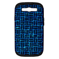 Woven1 Black Marble & Deep Blue Water (r) Samsung Galaxy S Iii Hardshell Case (pc+silicone) by trendistuff