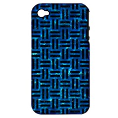 Woven1 Black Marble & Deep Blue Water (r) Apple Iphone 4/4s Hardshell Case (pc+silicone) by trendistuff