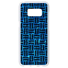 Woven1 Black Marble & Deep Blue Water (r) Samsung Galaxy S8 White Seamless Case by trendistuff