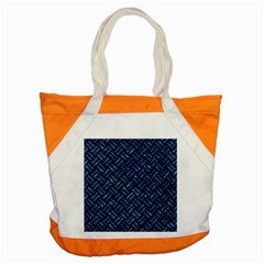 Woven2 Black Marble & Deep Blue Water Accent Tote Bag by trendistuff