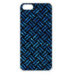 Woven2 Black Marble & Deep Blue Water Apple Iphone 5 Seamless Case (white) by trendistuff