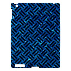 Woven2 Black Marble & Deep Blue Water (r) Apple Ipad 3/4 Hardshell Case by trendistuff
