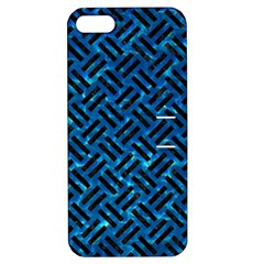 Woven2 Black Marble & Deep Blue Water (r) Apple Iphone 5 Hardshell Case With Stand by trendistuff