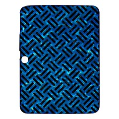 Woven2 Black Marble & Deep Blue Water (r) Samsung Galaxy Tab 3 (10 1 ) P5200 Hardshell Case  by trendistuff
