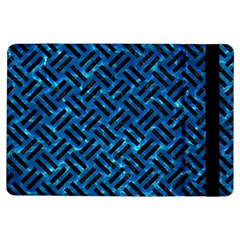 Woven2 Black Marble & Deep Blue Water (r) Ipad Air Flip by trendistuff