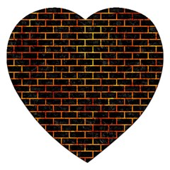 Brick1 Black Marble & Fire Jigsaw Puzzle (heart) by trendistuff
