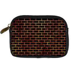 Brick1 Black Marble & Fire Digital Camera Cases by trendistuff