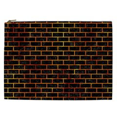 Brick1 Black Marble & Fire Cosmetic Bag (xxl)  by trendistuff