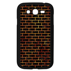 Brick1 Black Marble & Fire Samsung Galaxy Grand Duos I9082 Case (black) by trendistuff