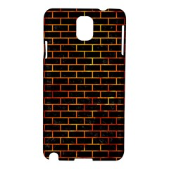 Brick1 Black Marble & Fire Samsung Galaxy Note 3 N9005 Hardshell Case by trendistuff