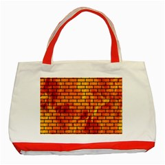 Brick1 Black Marble & Fire (r) Classic Tote Bag (red) by trendistuff