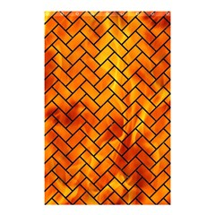 Brick2 Black Marble & Fire (r) Shower Curtain 48  X 72  (small)  by trendistuff
