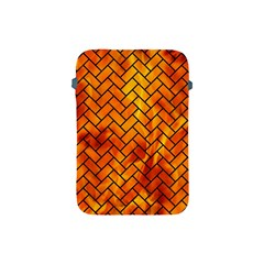Brick2 Black Marble & Fire (r) Apple Ipad Mini Protective Soft Cases by trendistuff