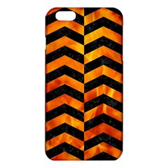 Chevron2 Black Marble & Fire Iphone 6 Plus/6s Plus Tpu Case by trendistuff