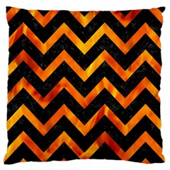 Chevron9 Black Marble & Fire Standard Flano Cushion Case (one Side) by trendistuff