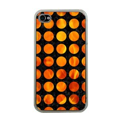 Circles1 Black Marble & Fire Apple Iphone 4 Case (clear) by trendistuff